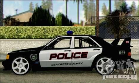 Mercedes-Benz 190E Evolution Police для GTA San Andreas вид слева