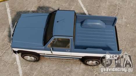 Rancher 1997 для GTA 4 вид справа