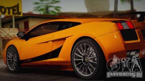 Lamborghini Gallardo Superleggera для GTA San Andreas вид слева