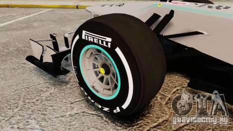 Mercedes AMG F1 W04 v5 для GTA 4 вид сзади