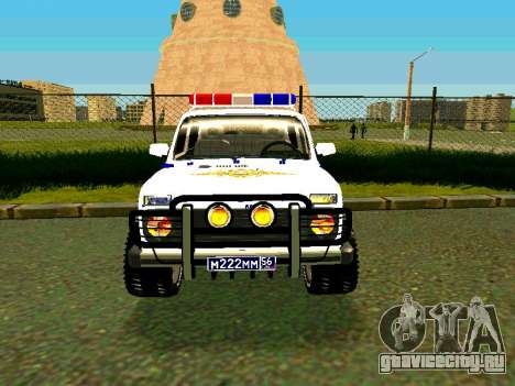 ВАЗ 212140 Полиция для GTA San Andreas вид сзади