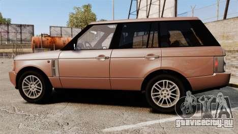Range Rover TDV8 Vogue для GTA 4 вид слева