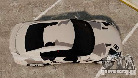 Nissan GT-R Black Edition 2012 Ski Slope Camo для GTA 4 вид справа