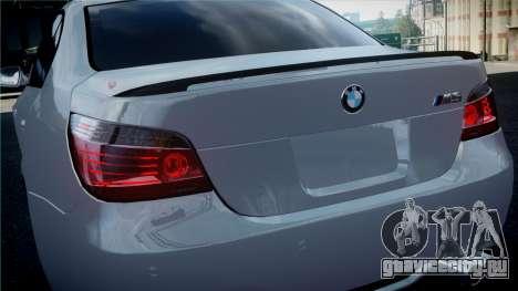BMW M5 E60 для GTA 4 вид справа