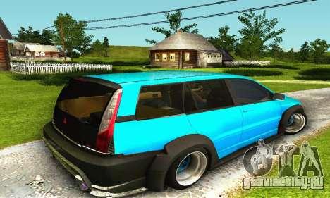 Mitsubishi Evo IX Wagon S-Tuning для GTA San Andreas вид сзади