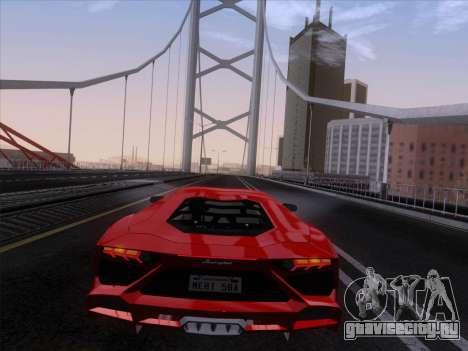Lamborghini Aventador LP720-4 2013 для GTA San Andreas вид изнутри