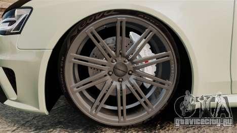 Audi RS4 Avant VVS-CV4 2013 для GTA 4 вид сзади