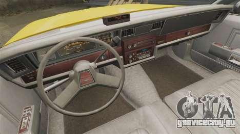 Chevrolet Caprice 1987 L.C.C. Taxi для GTA 4 вид изнутри