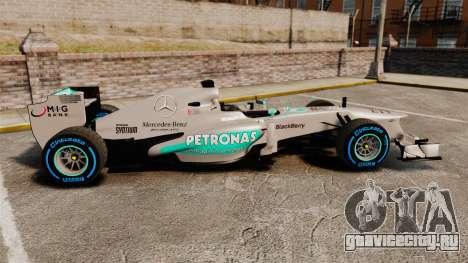 Mercedes AMG F1 W04 v2 для GTA 4 вид слева