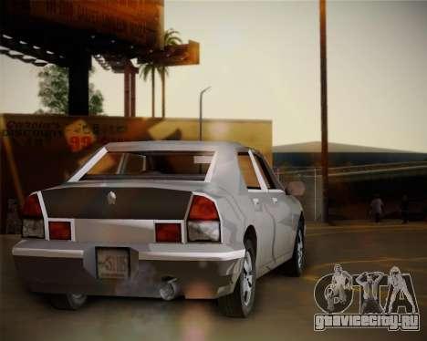 GTA III Kuruma для GTA San Andreas вид сзади слева