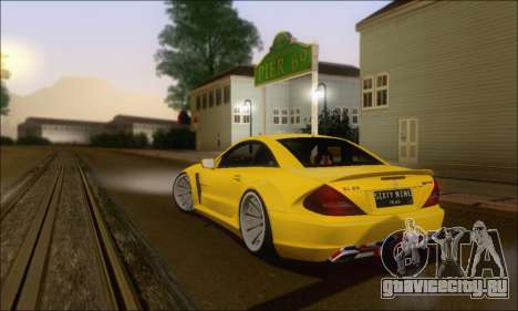 Mercedes-Benz SL65 AMG GB для GTA San Andreas вид сзади