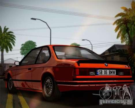 BMW E24 M635 1984 для GTA San Andreas вид изнутри
