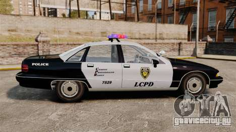Chevrolet Caprice Police 1991 v2.0 LCPD для GTA 4 вид слева