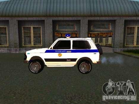 ВАЗ 212140 Полиция для GTA San Andreas вид справа
