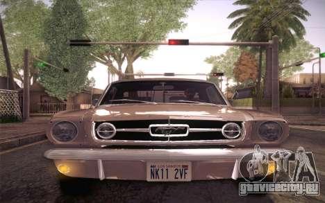 Ford Mustang GT 289 Hardtop Coupe 1965 для GTA San Andreas вид сверху