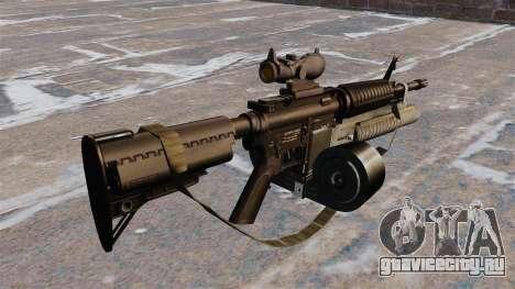 Автоматический карабин M4 C-Mag для GTA 4 второй скриншот