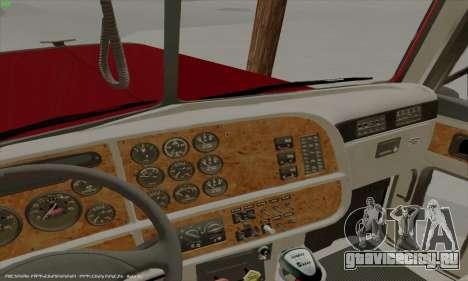 Peterbilt 379 Dump Truck для GTA San Andreas вид изнутри