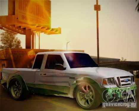 Ford Ranger 2005 для GTA San Andreas вид изнутри