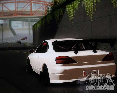 Nissan Silvia S15 JDM для GTA San Andreas вид изнутри