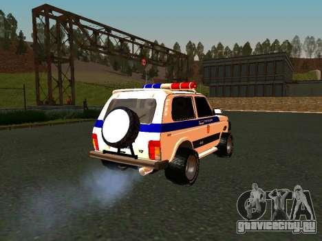 ВАЗ 212140 Полиция для GTA San Andreas вид изнутри