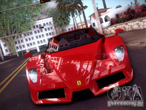 Ferrari Enzo 2003 для GTA San Andreas вид изнутри