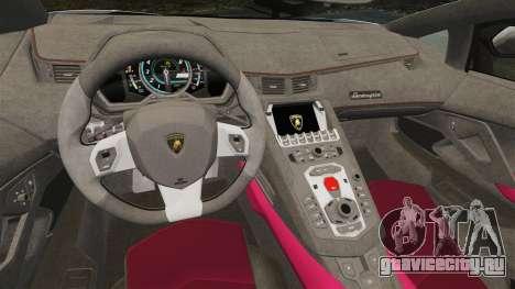 Lamborghini Aventador LP700-4 LE-C 2014 для GTA 4 вид изнутри