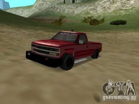 Chevrolet Silverado ATTF для GTA San Andreas вид изнутри