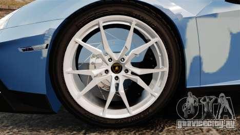 Lamborghini Aventador LP700-4 LE-C 2014 для GTA 4 вид сзади