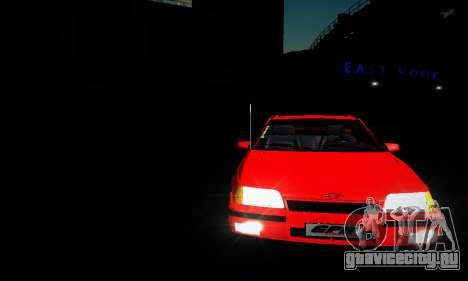 Chevrolet Kadett GS 2.0 для GTA San Andreas вид изнутри