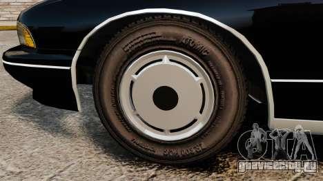 Chevrolet Caprice Police 1991 v2.0 LCPD для GTA 4 вид сзади