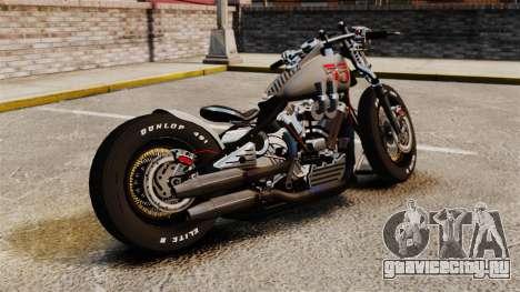 Harley-Davidson Knucklehead v1 для GTA 4 вид слева