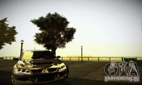 Mitsubishi Lancer Evo IX для GTA San Andreas вид слева
