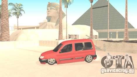 Peugeot Partner для GTA San Andreas вид слева