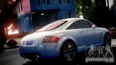 Audi TT Coupe 3.2 Quattro 2004 для GTA 4 вид справа