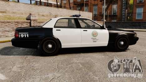 GTA V Police Cruiser [ELS] для GTA 4 вид слева