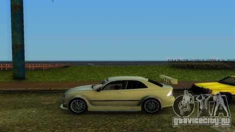 Lexus IS200 для GTA Vice City вид изнутри