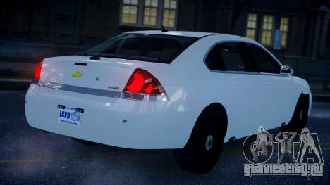 Chevy Impala Unmarked 2010 для GTA 4 вид слева