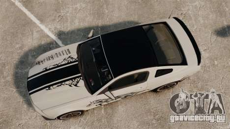Ford Mustang 2012 Boss 302 Fiery Horse для GTA 4 вид справа