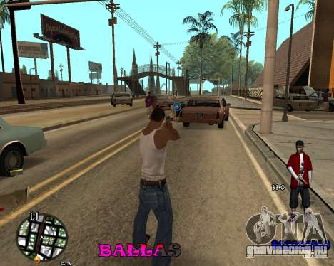 HUD The Ballas By Santiago для GTA San Andreas второй скриншот