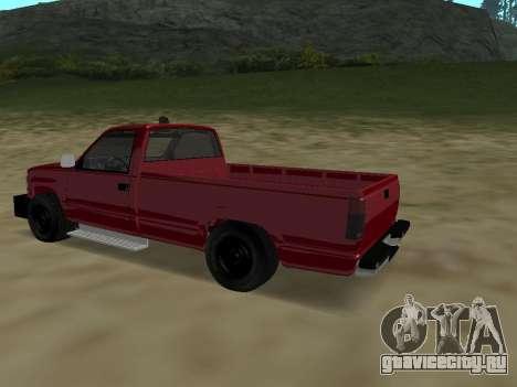 Chevrolet Silverado ATTF для GTA San Andreas вид сзади