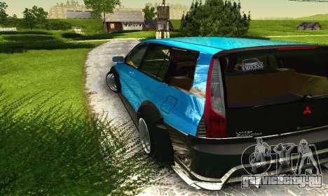 Mitsubishi Evo IX Wagon S-Tuning для GTA San Andreas вид снизу