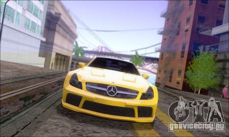 Mercedes-Benz SL65 AMG GB для GTA San Andreas вид сзади слева