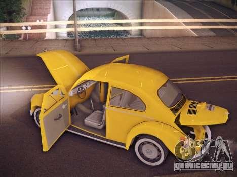 Volkswagen Käfer для GTA San Andreas салон