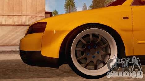 Audi S4 для GTA San Andreas вид сзади слева