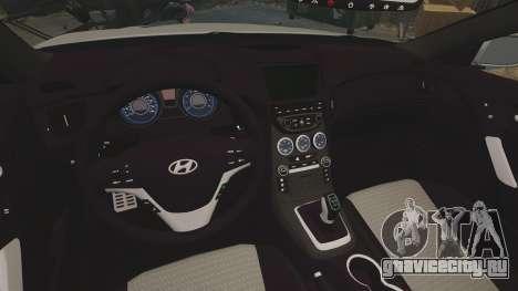Hyundai Genesis Coupe 2013 для GTA 4 вид изнутри