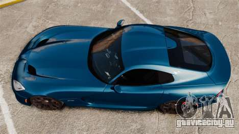 Dodge Viper SRT GTS 2013 для GTA 4 вид справа
