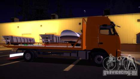 Volvo FH12 Эвакуатор для GTA San Andreas вид справа