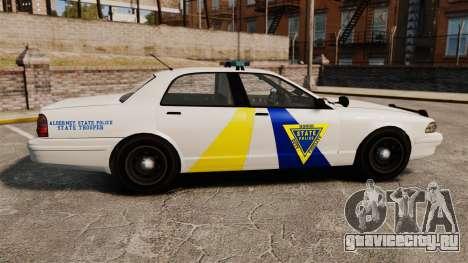GTA V Police Vapid Cruiser Alderney state для GTA 4 вид слева