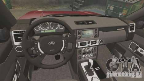 Range Rover Supercharged для GTA 4 вид изнутри