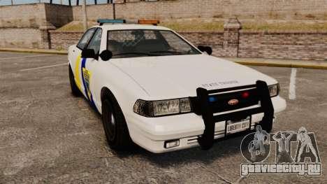 GTA V Police Vapid Cruiser Alderney state для GTA 4
